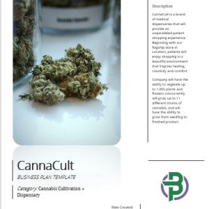Cultivation+Dispensary/Retail Store Cannabis Business Plan Template