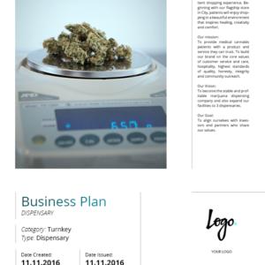 Turnkey Cannabis Business Plan. Prepayment