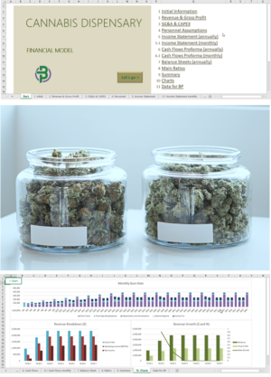 cannabis dispensary shop financial model