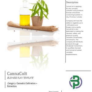 Cannabis Cultivation + Extraction / Concentrates Business Plan Template