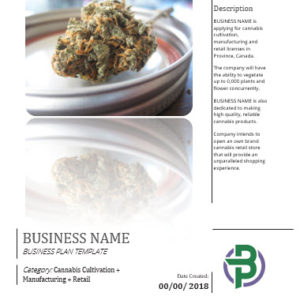 Cultivation+Extraction/ Manufacturing+Retail Cannabis Business Plan Template