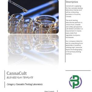 Cannabis Testing Laboratory Business Plan Template