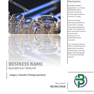 Cannabis Testing Laboratory Business Plan Template