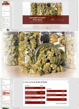 Cannabis Retail Investor Pitch Deck Template
