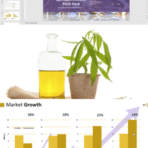 Cannabis Investor Pitch Deck Template for Cultivation and Extraction