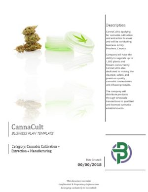 Cannabis Cultivation Extraction Manufacturing Business Plan Template