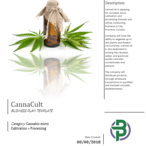 Cannabis Micro Cultivation + Processing Business Plan Template