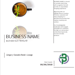 Cannabis Retail + Lounge Business Plan Template