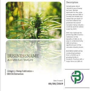 Hemp Cultivation + CBD Oil Extraction Business Plan Template
