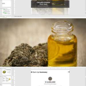 Cannabis Investor Pitch Deck Template for Extraction, Manufacturing and Retail